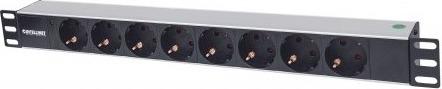 "Power Strip Intellinet 1.5U pentru rack 19"", 8 prize Schuko, indicator LED, fara protectie, cablu 1.6m  0"