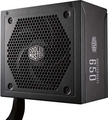 Power Supply Unit COOLER MASTER 650W (real), MasterWatt 650, silent LDB fan 120mm, 80 Plus Bronze, 4x PCI-E (6+2), 9x S-ATA 0