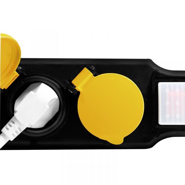"PRELUNGITOR LOGILINK, Schuko x 3, conectare prin Schuko (T), cablu 1.5 m, 16 A, IP44 waterproof, capace protectie, dedicat pt. exterior, suport montare perete, negru, ""LPS253"" 4"