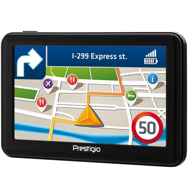 "Prestigio GeoVision 5060, 5"" (480*272) TN display, WinCE 6.0, 800MHz Mstar MSB2531 Cortex A7, 128MB DDR, 4GB Flash, 600mAh battery, color/black 1"