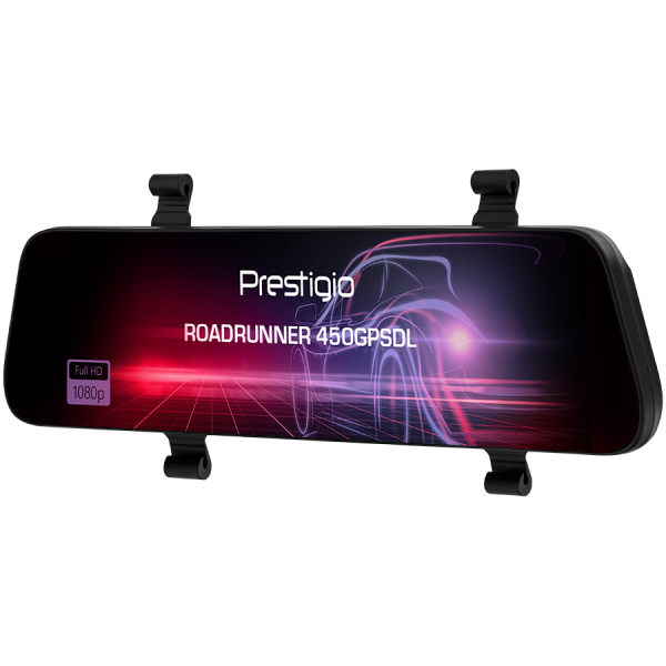 Prestigio RoadRunner 450GPSDL, 9.66\'\' IPS (1280x320) 2.5D curved touch display, Dual camera: front - FHD 1920x1080@30fps, HD 1280x720@30fps, rear - VGA 1920x1080@30fps, MSC8339D, 2 MP CMOS SC2363 fr 2