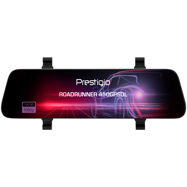 Prestigio RoadRunner 450GPSDL, 9.66\'\' IPS (1280x320) 2.5D curved touch display, Dual camera: front - FHD 1920x1080@30fps, HD 1280x720@30fps, rear - VGA 1920x1080@30fps, MSC8339D, 2 MP CMOS SC2363 fr 1