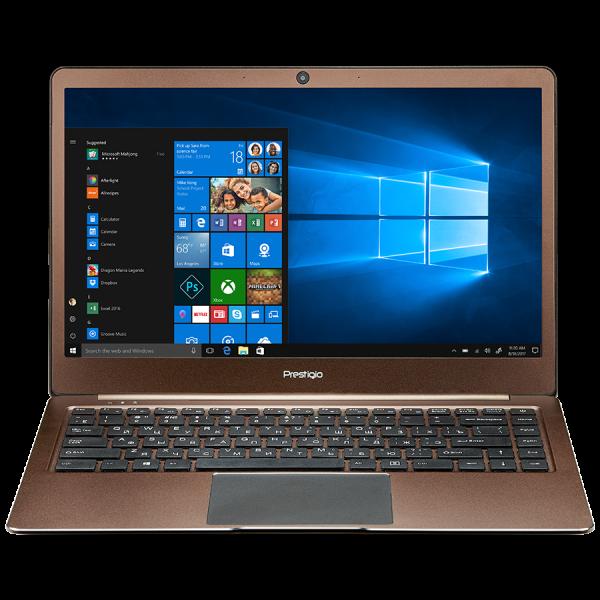 "Prestigio SmartBook 141S, 14.1""(1920*1080) IPS (anti-Glare), Windows 10 Home, up to 2.4GHz DC Intel Celeron N3350, 3GB DDR, 32GB Flash, BT 4.0, WiFi, Micro HDMI, SSD slot(M.2), 0.3MP Cam, EN kbd, 5000 0"