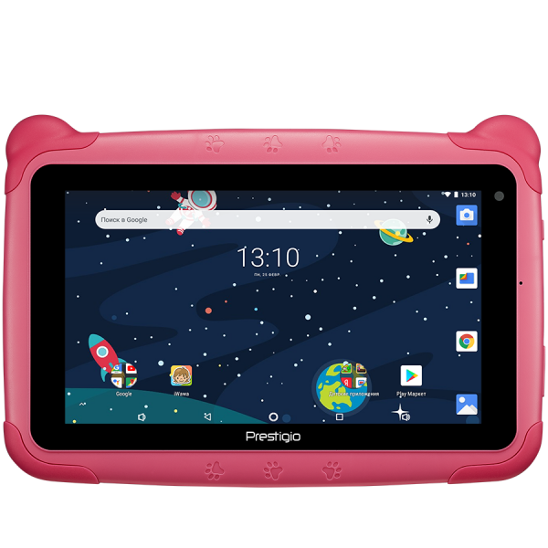 "Prestigio Smartkids, PMT3197_W_D_PK, wifi, 7"" 1024*600 IPS display, up to 1.3GHz quad core processor, android 8.1(go edition), 1GB RAM+16GB ROM, 0.3MP front+2MP rear camera,2500mAh battery 0"