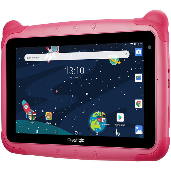 "Prestigio Smartkids, PMT3197_W_D_PK, wifi, 7"" 1024*600 IPS display, up to 1.3GHz quad core processor, android 8.1(go edition), 1GB RAM+16GB ROM, 0.3MP front+2MP rear camera,2500mAh battery 1"