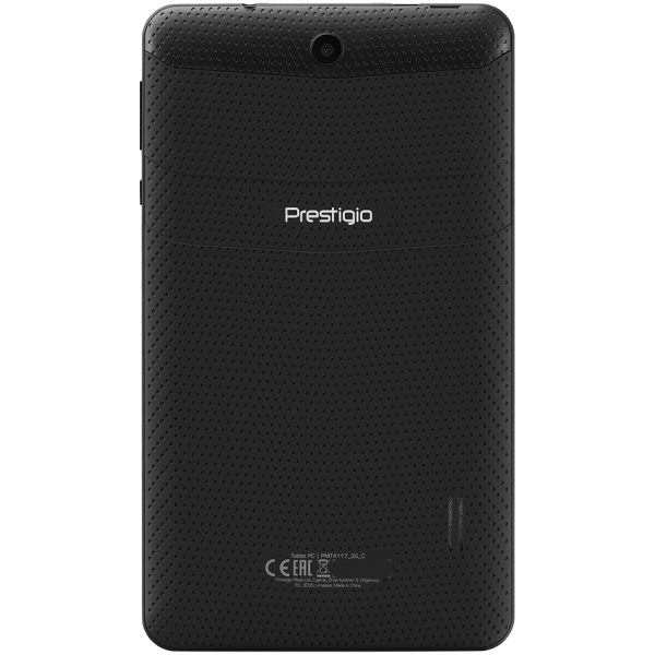 "prestigio wize 4117 3G, PMT4117_3G_C, dual SIM card, have call function, 7"" (600*1024) IPS display, 3G, up to 1.3GHz quad core processor, Android 8.1 go, 1G+8G, 0.3MP+2MP camera, 2500mAh battery 3"
