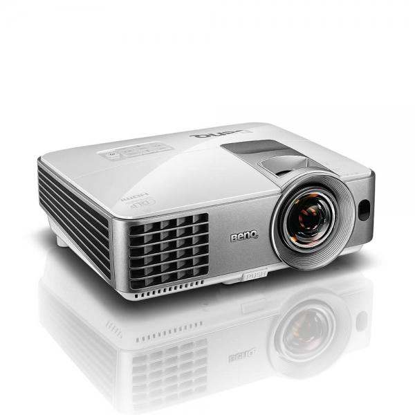 "Proiector BENQ MW632ST, DLP, WXGA 1280x 800, 3200 lumeni, 13.000:1,lampa 10.000 ore Smart Eco, D-sub, Composit, S-Video, HDMI, RCA, boxa 10W, telecomanda, card garantie, culoare alb/ argintiu ""9H.JE27 3"