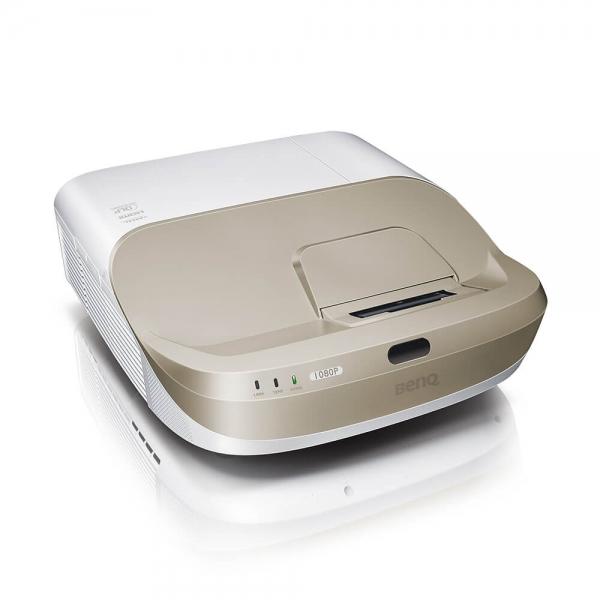 """Proiector BENQ W1600UST, Home Cinema, DLP FHD 1920x 1080, 2800 lumeni, 10.000:1, lampa 6.000 ore Smart Eco, speakers 2*10W, culoare alb+ auriu """"9H.JG477.19E"""" 0"""