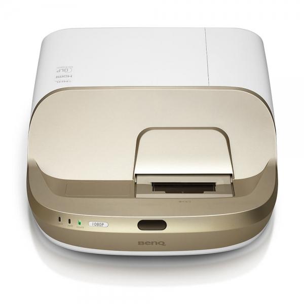 """Proiector BENQ W1600UST, Home Cinema, DLP FHD 1920x 1080, 2800 lumeni, 10.000:1, lampa 6.000 ore Smart Eco, speakers 2*10W, culoare alb+ auriu """"9H.JG477.19E"""" 1"""