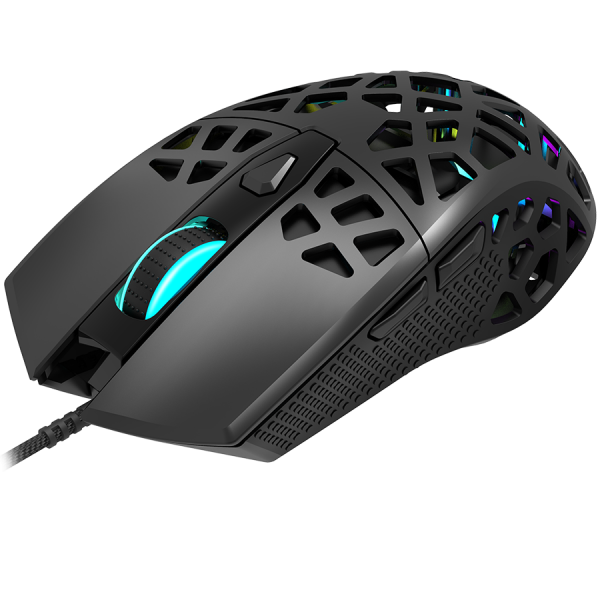 Puncher GM-20 High-end Gaming Mouse with 7 programmable buttons, Pixart 3360 optical sensor, 6 levels of DPI and up to 12000, 10 million times key life, 1.65m Ultraweave cable, Low friction with PTFE  2