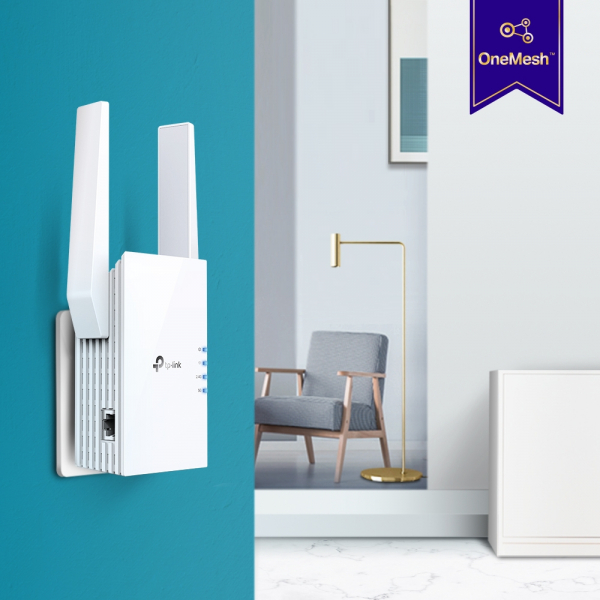"RANGE EXTENDER TP-LINK wireless  1800Mbps, 1 port Gigabit,  2 antene externe, 2.4 / 5Ghz dual band, Wi-Fi 6, ""RE605X"" (include timbru verde 1.5 lei) 6"