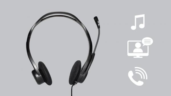 Casti Logitech 960 PC Headset, USB [1]