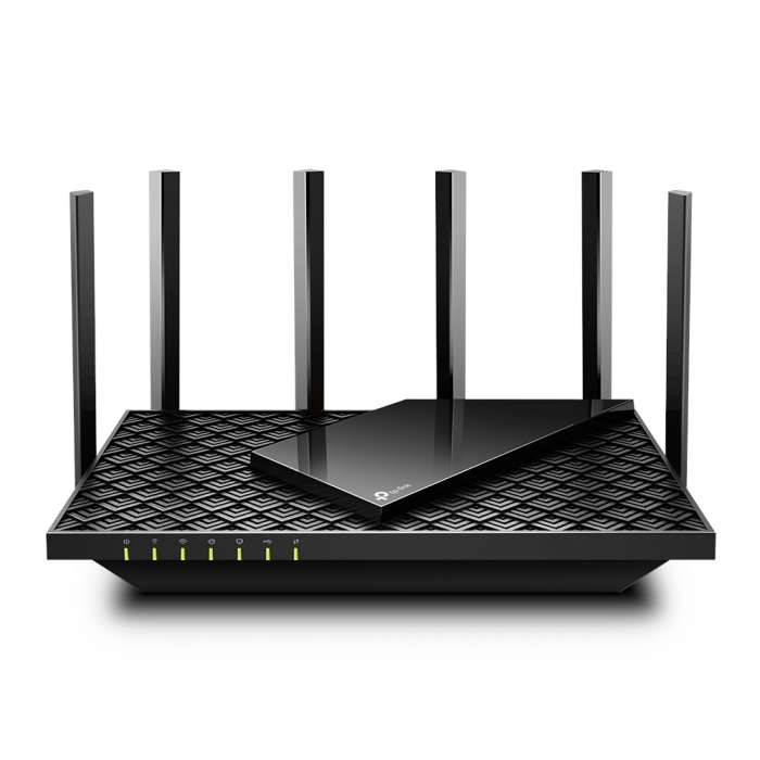 "ROUTER TP-LINK wireless 5400Mbps,1 x WAN Gigabit, 4 porturi Gigabit, 1 x USB 3.0, 2.4 Ghz/5 Ghz dual band, 6 antene externe, WI-FI 6 ""Archer AX73"" (include timbru verde 1.5 lei) 0"