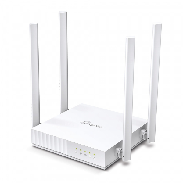 """ROUTER TP-LINK wireless  750Mbps, 4 porturi 10/100Mbps, 4 antene externe, Dual Band AC750 """"Archer C24"""" (include timbru verde 1.5 lei) [1]"""