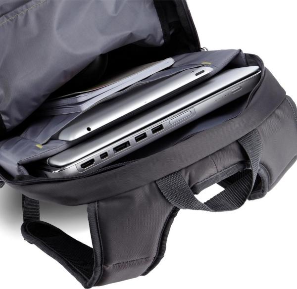"""RUCSAC CASE LOGIC notebook 15.6"""", poliester, 2 compartimente, buzunar interior tableta, buzunar frontal, 2 buzunare laterale, black """"WMBP115K""""/532330 5"""