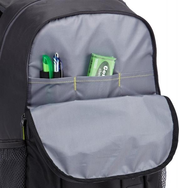 """RUCSAC CASE LOGIC notebook 15.6"""", poliester, 2 compartimente, buzunar interior tableta, buzunar frontal, 2 buzunare laterale, black """"WMBP115K""""/532330 1"""
