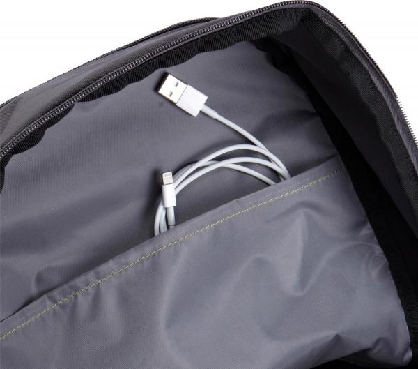 """RUCSAC CASE LOGIC notebook 15.6"""", poliester, 2 compartimente, buzunar interior tableta, buzunar frontal, 2 buzunare laterale, black """"WMBP115K""""/532330 3"""