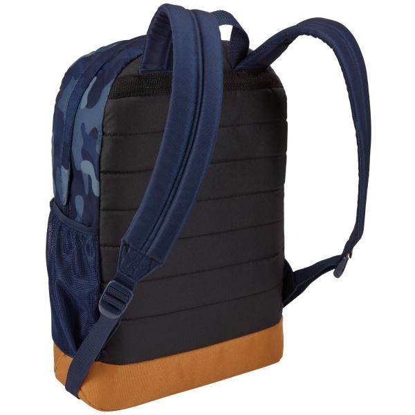 """RUCSAC SCOLAR CASE LOGIC, 24l, 1 compartiment depozitare, buzunar frontal, 2 buzunare laterale, model camuflaj/ albastru/ galben, """"CCAM-1116 Dress Blu Camo / Cumin/3203848"""" 2"""