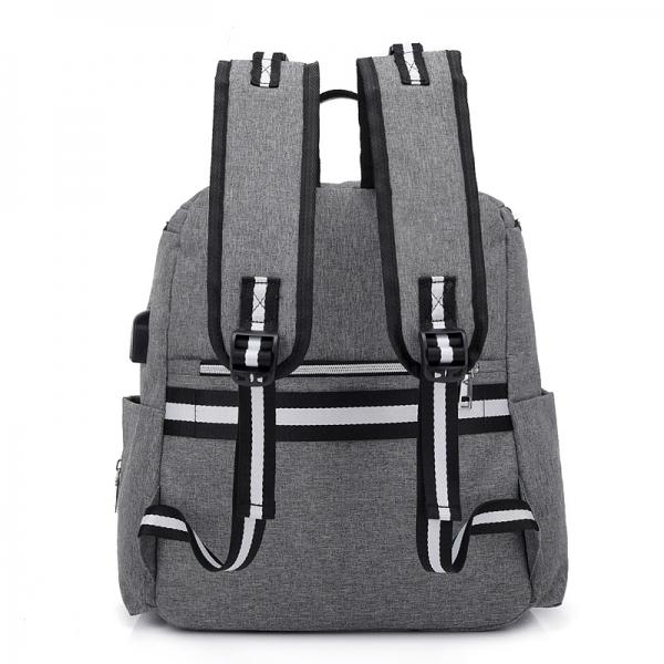"RUCSAC SPACER Mammy bag , nylon,  1 compartiment, 2 buzunare frontale, 35x30x16cm, silver, ""SPB-Pumpkin"" [3]"