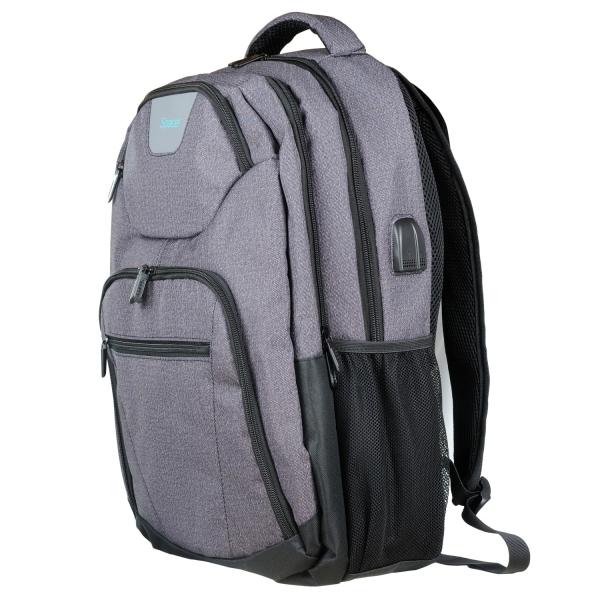 "RUCSAC SPACER notebook 15.6"", polyester, USB pt. smartphone, 3.5"" jack pt. casti, light grey, ""SPB-SMART"" [1]"