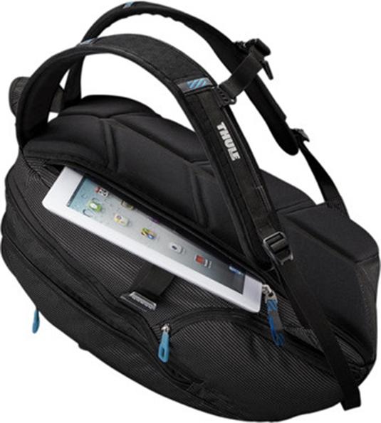 "RUCSAC THULE notebook 15"", nylon, 2 compartimente, buzunar interior tableta, 2 buzunare frontale, 2 buzunare laterale, buzunar dorsal, 21 litri, black, ""Crossover"" ""TCBP115K""/3201751 [2]"