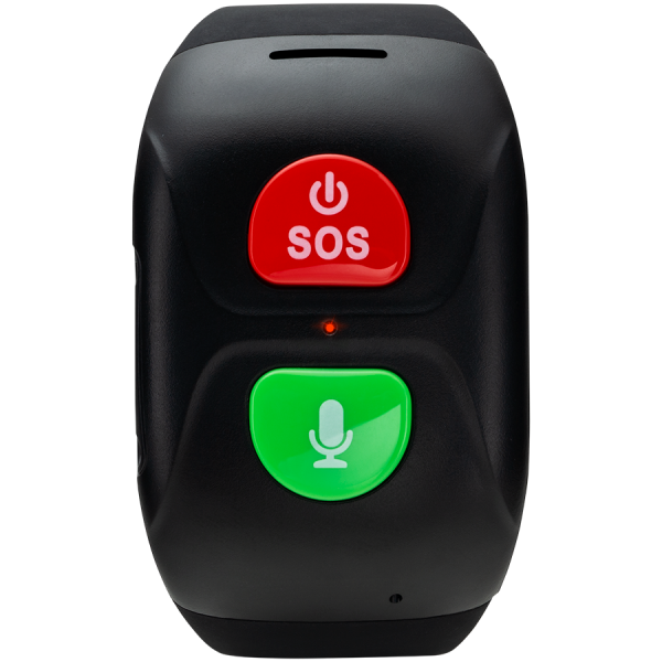 Senior Tracker, GPS function, SOS button, IP67 waterproof, single SIM, 16KB RAM 512KB ROM, GSM(850/900/1800/1900MHz), 400mAh, compatibility with iOS and android, Black, host: 66*37*16mm, strap: 20wide 0