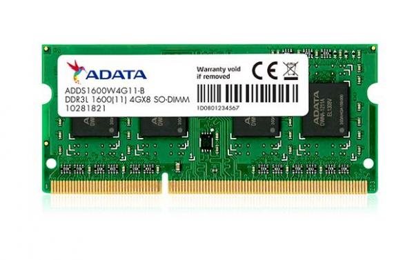 "SODIMM ADATA DDR3/1600  8GB low voltage ""ADDS1600W8G11-S"" 0"