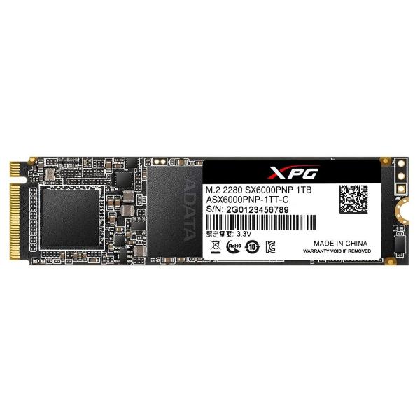 """SSD ADATA M.2 PCIe 1TGB, Gen3 x4, XPG SX6000 Pro 3D TLC NAND, R/W up to 2100/1500MB """"ASX6000PNP-1TT-C"""" 0"""