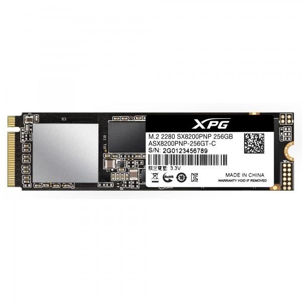 """SSD ADATA M.2 PCIe 256GB, Gen3 x4, XPG SX8200 Pro 3D TLC NAND, R/W up to 3500/1200MB """"ASX8200PNP-256GT-C"""" 0"""