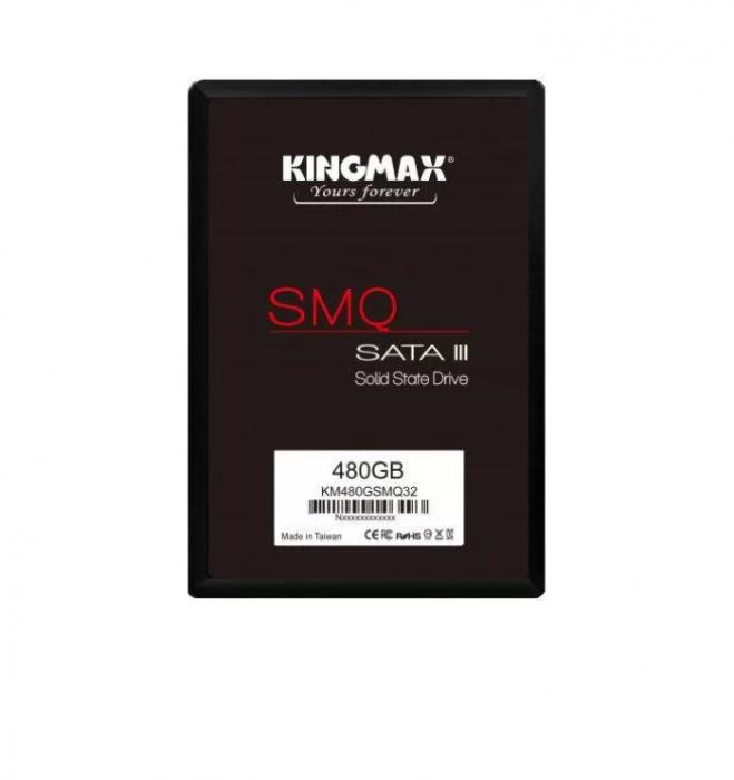 """SSD Kingmax, 480GB, 2.5 inch, S-ATA 3, 3D QLC Nand, R/W: 540 MB/s/450 MB/s MB/s, """"KM480GSMQ32"""" [1]"""