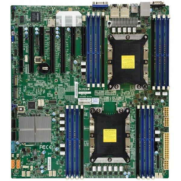 Supermicro Motherboard MBD-X11DPH-I 2xLGA 3647, Intel C621, 16xDDR4, 2x1GbE LAN, 10xSATA3 (6Gbps) RAID 0,1,5,10, 7xUSB 3.0, 1xVGA, 1xCOM, 3xPCI-E 3.0 x16 + 4xPCI-E 3.0 x8, E-ATX, Ret. 0