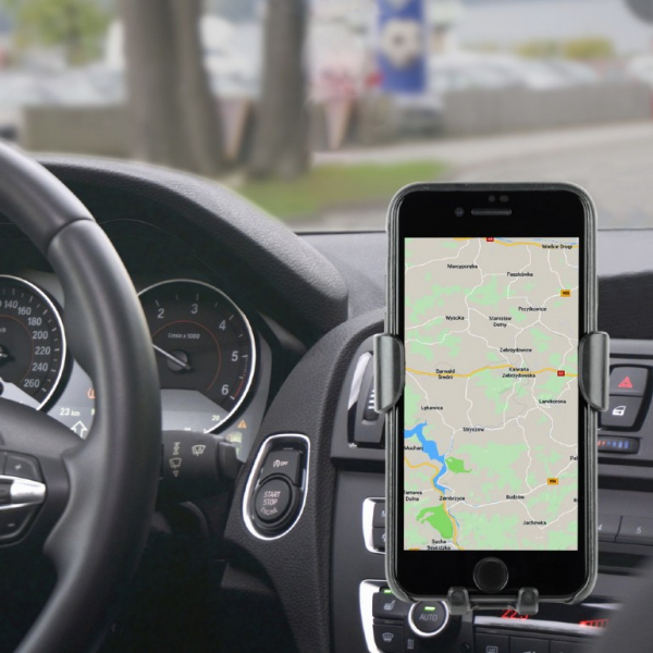 "SUPORT auto GEMBIRD pt. SmartPhone, 2 in 1, fixare in grilaj bord, incarcare wireless Qi 10W, sistem auto-lock, rotire 360 grade, black, ""EG-TA-CHAV-QI10-01"" 3"