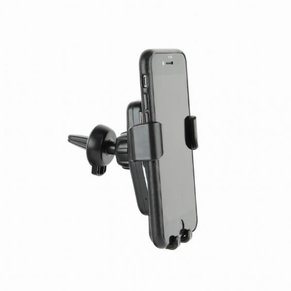"SUPORT auto GEMBIRD pt. SmartPhone, 2 in 1, fixare in grilaj bord, incarcare wireless Qi 10W, sistem auto-lock, rotire 360 grade, black, ""EG-TA-CHAV-QI10-01"" 1"