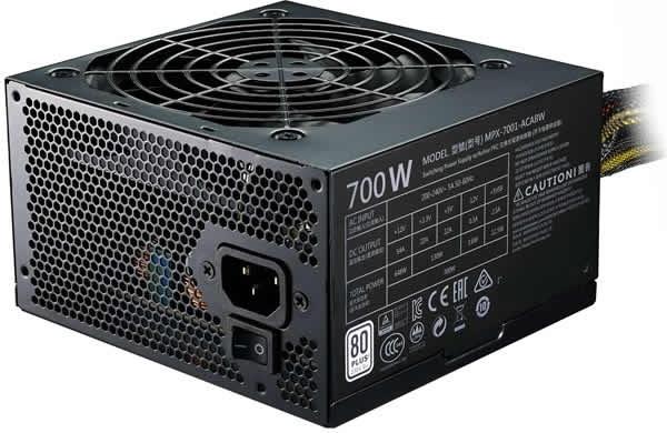"SURSA COOLER MASTER  MasterWatt Lite, 700W (real), silent HDB fan 120mm, 85% eficienta, 4x PCI-E (6+2), 6x S-ATA ""MPX-7001-ACABW-EU"" 0"