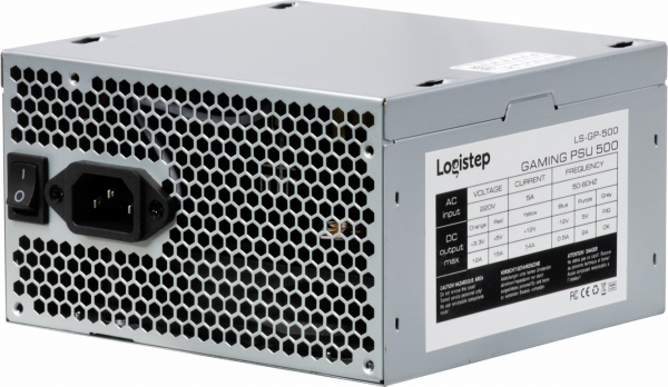 "SURSA LogiStep 500, 300W pt. 500W desktop PC, Gaming PSU 500, 120mm fan, 1x PCI-E (6), 4x S-ATA ""LS-GP-450"" 2"
