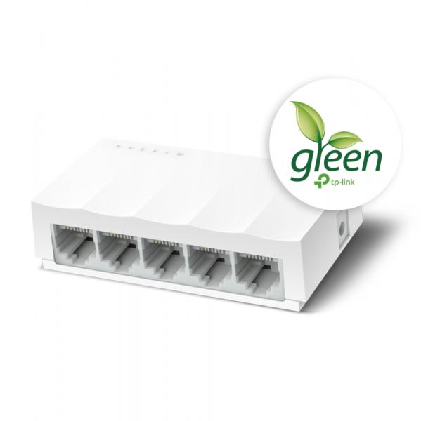 """SWITCH TP-LINK  5 porturi 10/100 Mbps LiteWave, fanless,""""LS1005"""" (include timbru verde 1 leu) 1"""