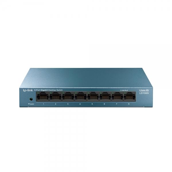 """SWITCH TP-LINK  8 porturi Gigabit LiteWave carcasa metalica, """"LS108"""" (include timbru verde 1 leu) 0"""
