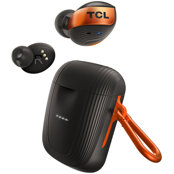 TCL In-Ear True Wireless Bluetooth Headset, Frequency of response 10-22K, Sensitivity 100 dB, Driver Size 6mm, Impedence 14 Ohm, Max power 20mW, Wireless Charging, Playtime 6.5h/33h, IPX5, Bluetooth 5 0