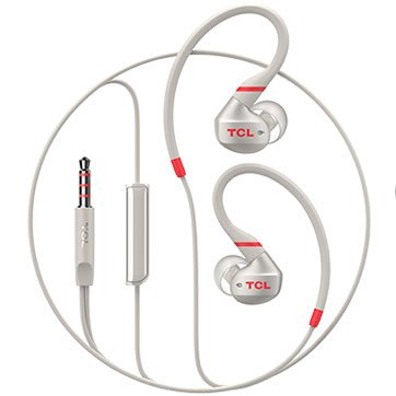 TCL In-ear Wired Sport Headset, IPX4, Frequency of response: 10-22K, Sensitivity: 100 dB, Driver Size: 8.6mm, Impedence: 16 Ohm, Acoustic system: closed, Max power input: 20mW, Connectivity type: 3.5m 1