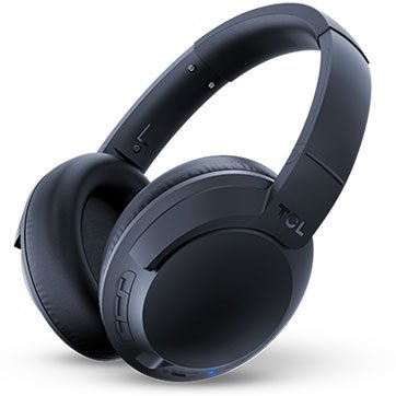 TCL Over-Ear Bluetooth Headset, HRA, slim fold, Frequency of response: 9-40K, Sensitivity: 100 dB, Driver Size: 40mm, Impedence: 24 Ohm, Acoustic system: closed, Max power input: 50mW, Bluetooth (BT 5 [0]