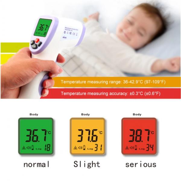 Termometru non contact cu infrarosu Hti HT-820D digital, de mare precizie, Display LED HD, masurare fara atingere (termometru cu certificat metrologic) 3