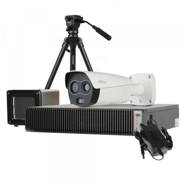 Kit pentru masurarea temperaturii umane Dahua: camera termala, scaner de precizie, smart NVR, licenta ProBase 1