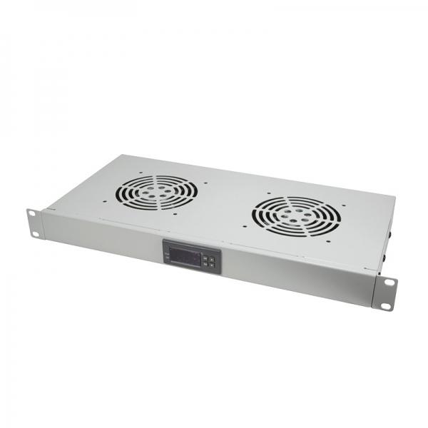 """UNITATE RACIRE LOGILINK, 1U pentru rack 19"""", 2 ventilatoare, 1600rpm, 25dBA, flux aer 49.8cfm, otel 1.5mm, cu termostat, cablu alimentare 1.8m, grey """"FAU02FG"""" 0"""
