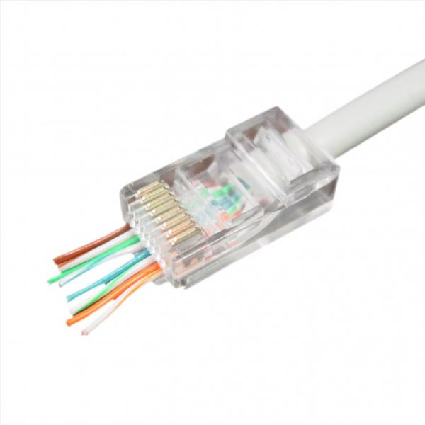 "Universal pass-through modular UTP plug 8P8C, 10 pcs per bag ""LC-PTU-01/10"" 1"