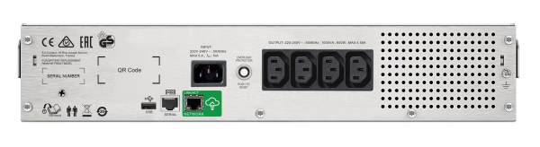 UPS APC Smart-UPS C line-interactive / sinusoidala 1000VA / 600W 4conectori C13 rackabil 2U, baterie APCRBC124,cu SmartConect optional extinderegarantie cu 1/3 ani (WBEXTWAR1YR-SP-02/WBEXTWAR3YR-SP-02 1