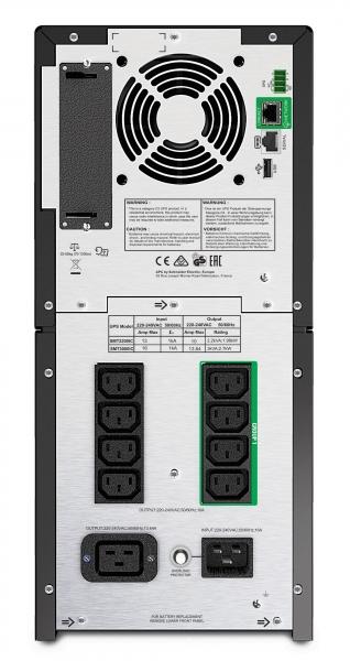 UPS APC Smart-UPS SMT line-interactive / sinusoidala 2200VA / 1980W 8conectori C13 1 conectori C19, baterie RBC55, optional extinder egarantie cu 1/3 ani (WBEXTWAR1YR-SP-03/WBEXTWAR3YR-SP-03) 1