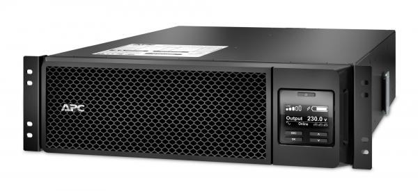 UPS APC Smart-UPS SRT online dubla-conversie 5000VA / 4500W 6 conectoriC13 4 conectori C19 extended runtime rackabil, baterie APCRBC 140,optional extindere garantie cu 1/3 ani (WBEXTWAR1YR-SP-05/WBEXT 0
