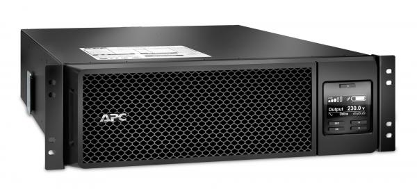 UPS APC Smart-UPS SRT online dubla-conversie 5000VA / 4500W 6 conectoriC13 4 conectori C19 extended runtime rackabil, baterie APCRBC 140,optional extindere garantie cu 1/3 ani (WBEXTWAR1YR-SP-05/WBEXT 1