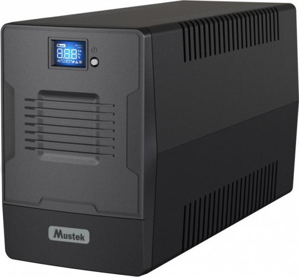"""UPS  MUSTEK PowerMust 1000 (1000VA / 600W) Line Interactive, IEC/Schuko, """"1000-LCD-LI-T30"""" (include timbru verde 3 lei) 0"""