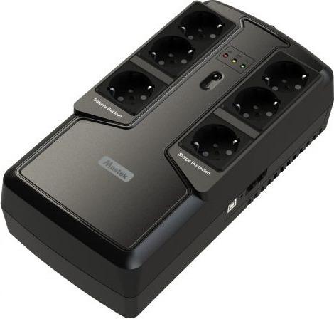 "UPS  MUSTEK PowerMust   600  Offline LED (600VA / 300W), Schuko(3+3), ""600-LED-OFF-T10"" (include timbru verde 3 lei) 0"